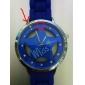 évider motif d'étoile de conception unisexe montre-bracelet à quartz avec une décoration en cristal - bleu