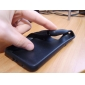 capa de silicone protetor para samsung i9100 (preto)