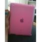metade caso de silício lado aberto para o ipad 2 (rosa)
