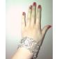 Femme Montre Tendance Montre Diamant Simulation Japonais Quartz Alliage Bande Etincelant Bracelet Argent Argent