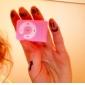 plug mini-clip in micro sd tf card reader card lettore mp3 music - rosa