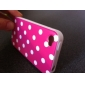 Round Dots Pattern Plastic Case for iPhone 4 (Assorted Colors)