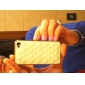 Grid Pattern PU Leather Case for iPhone 4 / 4S (Assorted Colors)