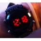 Men's Watch Sports Red LED Digital Silicone Strap