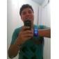 Relógio Azul Futurista LED - Preto