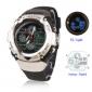 Мужские и  женские многофункциональные цифровые аналоговые автоматические часы  (черные)