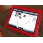 Protective PU Hard Leather Case + Stand for iPad 2/3 (Red)