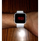 Unisex Silicone Style Sports Red LED Wrist Watch (White) Cool Watch Unique Watch