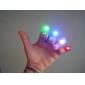 Renkli LED Lazer Parmak Işık (4-Adet)