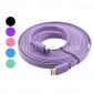 5m 15ft plat Câble HDMI v1.4 Ethernet 1080p 3D - couleurs assorties