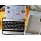Ultra-Tynd Aluminum Trådløs Bluetooth QWERTY Keyboard Til iPad 2 og den nye iPad