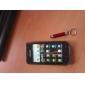 pantalla táctil con lápiz óptico llavero para iPad, iPhone, libro de jugadas, Xoom, P1000 y raya (rojo)