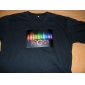 Camiseta LED con Visualizador de Sonido y Música