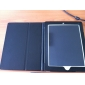 Custodia rigida in pelle PU + supporto per iPad - Nero
