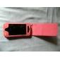 Чехол из кожзама под змеиную кожу для iPhone 4 (персиковый)