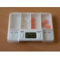 Digital Medicine Timing Reminder Box with 4-Pill Compartments and 8 Daily Alarms (CEG8101)