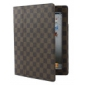 Mesh Pattern PU Leather Case with Stand for iPad 3 (Auto Sleep Function)