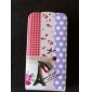 Metal Tower Design Full Body Flip Case for iPhone 4 and 4S (Pink and Purple)