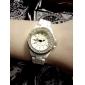 montre-bracelet de diamants de quartz avec bracelet en acier inoxydable pour les femmes