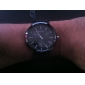 Relógio de Homem Analógico de Silicone (Preto)