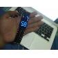 לשני המינים Blue LED הלבה סגנון שחור פלדה בנד שעון יד