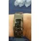 남성과 여성의 합금 아날로그 석영 팔찌 시계 (블랙)