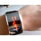 Unisex Red LED Digital Black PU Band Wrist Watch Cool Watch Unique Watch
