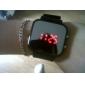 Unisex Jumbo Sport Uhr Mit LED Spiegel Anzeige & Silikon Armband - Schwarz