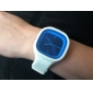 Unisex Jelly Blue Dial White Silicone Band Quartz Analog Wrist Watch