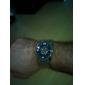 liga dos homens analógico relógio de pulso mecânico (prata)