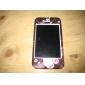 de protection en polycarbonate lisse avant et arrière pour iPhone 4 et iPhone (coeur pourpre) 4s