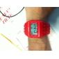 unisexe bloc briques montre de conception de bande numérique à cristaux liquides de poignet (rouge)