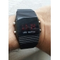 שעון יוניסקס LED דיגיטלי כיכר מקרה סיליקון להקת יד (צבעים שונים)