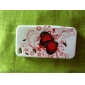 Butterfly Pattern Protective Silica Gel Soft Case for iPhone 4
