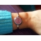 Quartz Watch with Metal Rope Watch Strap - Purple Face
