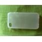 защитные прозрачные мягкий чехол для iphone4 (белый)