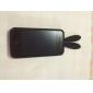 Case de Silicone para iPhone 4 - Coelho (Preta)