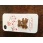 Full Body Case for iPhone 4/4S - Brown Lucky Bear