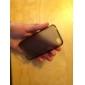 protection étui transparent souple pour iphone4 (noir)