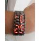Digitalt LED-ur i Svart Metall