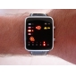 Unisex LED Binary System Display Black PU Leather Wrist Watch