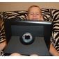 étui de protection à 360 degrés rotatif automatique de sommeil avec support pour iPad 3