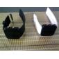 Paire de Montres LED Sportives, en Silicone - Blanche et Noire