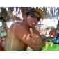 Lunettes de Soleil à la Mode pour Homme, avec Protection UV, Monture en Alliage
