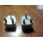 universal nos au eu uk a la alimentación de CA enchufe adaptador convertidor de viaje (ceg404)
