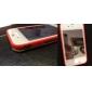 anti-scratch protetor de tela espelho com um pano de limpeza para iphone 4 e 4S