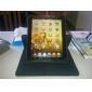 360 astetta kääntyvä kukkakuvioinen PU-nahka kuori jalustalla uudelle iPadille ja iPad 2:lle