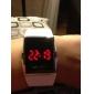 Silicone Band LED Red Light Fashion Wrist Watch - White