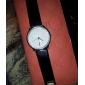 Women's White Dial Black PU Band Quartz Wrist Watch
