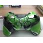 Защитный силиконовый камуфляжный чехол для геймпада PS3 (зеленый и черный)
